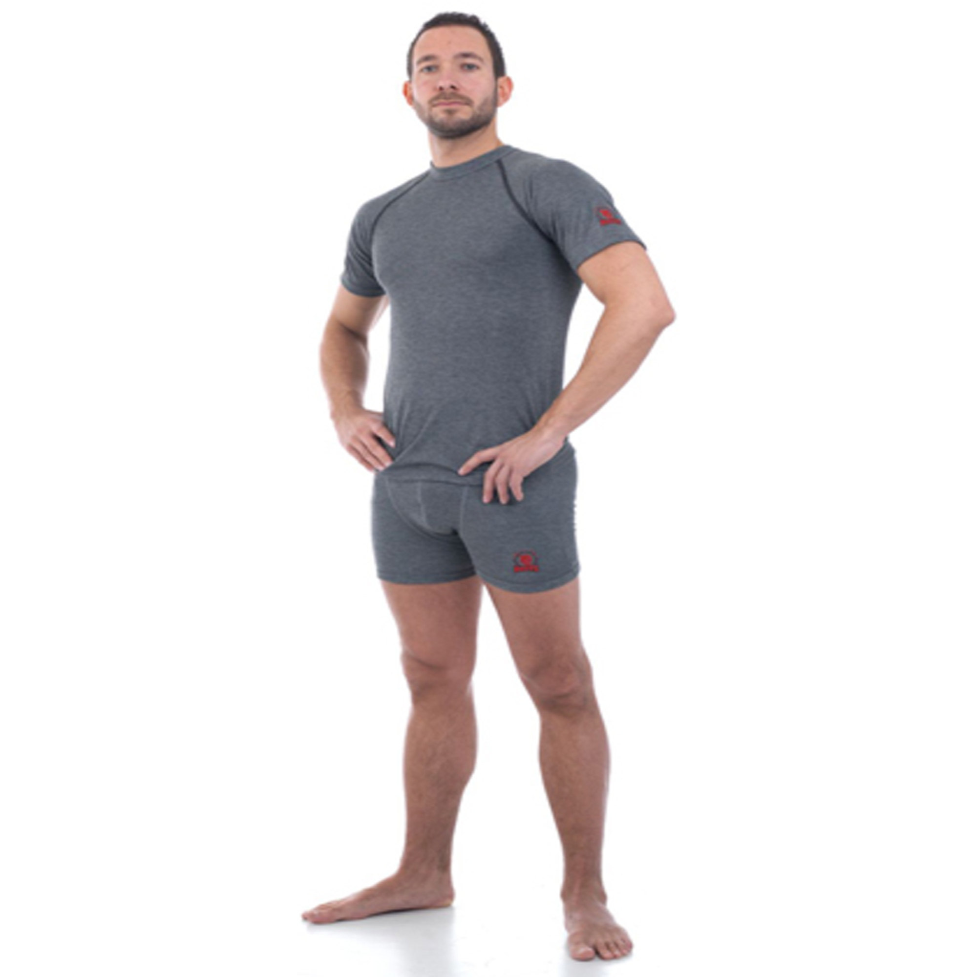 ROOTS ARC RATED MEN'S UNDERWEAR SHIRT SHORT SLEEVE AND BOXER - 4.8 CAL/CM²