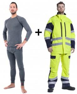 RO25100, RO25120 Underwear + RO2517 Waterproof Bib and Parka = ARC 4, 48.9 cal/cm2