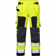 FRISTADS Trousers 2075 ATHS Hi-Vis Yellow/Navy &#8211; Class 1, 16.8 cal/cm<sup>2</sup>