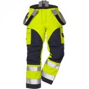 FRISTADS GORE-TEX Trousers 2089 GXH Hi-Vis Yellow/Navy &#8211; Class 2, 29.6 cal/cm<sup>2</sup>