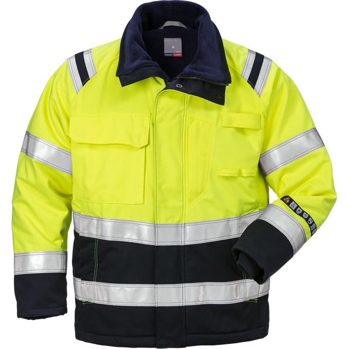 Fristads Winter Jacket 4185 Aths Hi Vis Yellow Navy
