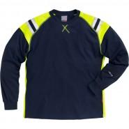 FRISTADS T-shirt L/Sleeve 7072 TFLH Dark Navy &#8211; Class 1, 5.9 cal/cm<sup>2</sup>