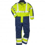 FRISTADS Winter Coverall cl 3 8625 FWA Hi-Vis Yellow/Navy – Class 1