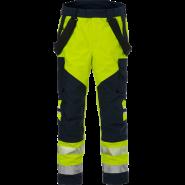FRISTADS GORE-TEX Flamestat Trousers Hi-Vis cl 2 2095 GXE Yellow/Navy – Class 2, 49.1 cal/cm²